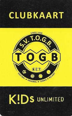Wijziging TOGB's Clubkaart